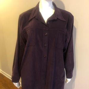 Avenue Plum Button Down Shirt Size 30/32